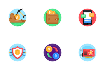 Bitcoin Blockchain And Cryptocurrency Icon Pack