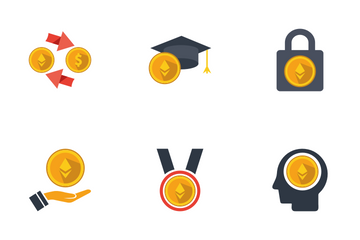 Bitcoin Blockchain Cryptocurrency Icon Pack