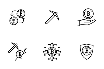 Bitcoin, Cryptocurrency Icon Pack