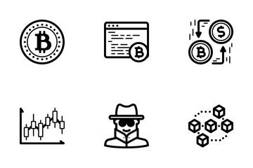 Bitcoin Icon Set Icon Pack