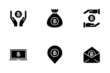 Bitcoin Solid Icon Pack