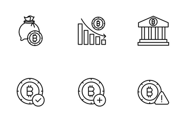 Bitcoins Cryptocurrency Icon Pack