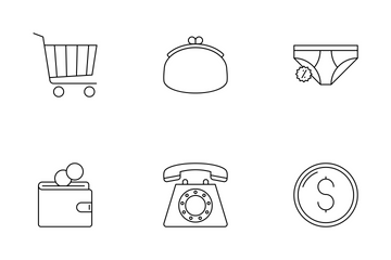 Black Friday Line Icons Icon Pack