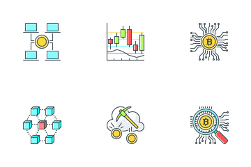 Blockchain And Cryptocurrency Icon Pack