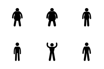 Body Size Evaluation Icon Pack