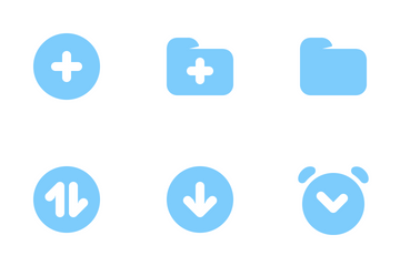 Bold Blue Glyphs Icon Pack