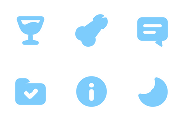 Bold Blue Glyphs (Free Samples) Icon Pack