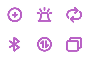 Bold Purple (Free Samples) Icon Pack