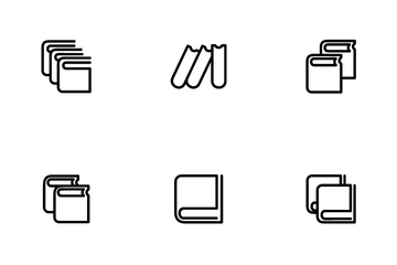 Book Outline Icon Icon Pack