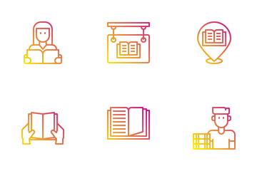 Bookstore Icon Pack