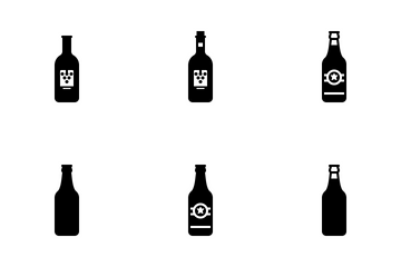 Bottles (Glyph) Icon Pack