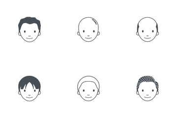 Men Hairstyles Icon Pack