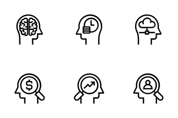 Brain Process & Thinking Icon Pack