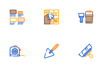 Bricklayer Industry Icon Pack