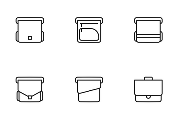 Line - Briefcase Icon Pack