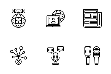 Broadcasting Icon Pack
