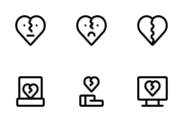 Broken Heart Icon Pack