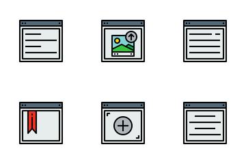 Browser And Website Layout Design Icon Pack