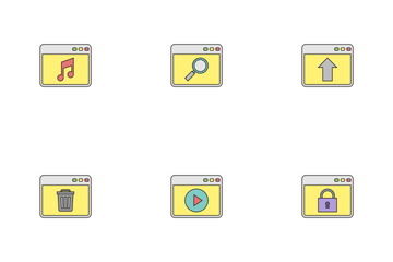 Browser Filled Outline Icon Pack