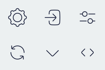 BUBBLE ICON Sign Control Set Icon Pack