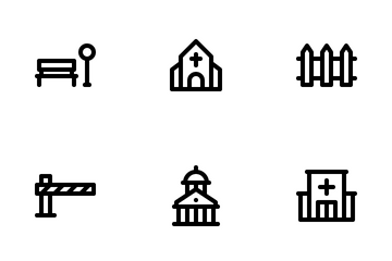 Building And Amenities Icon Pack