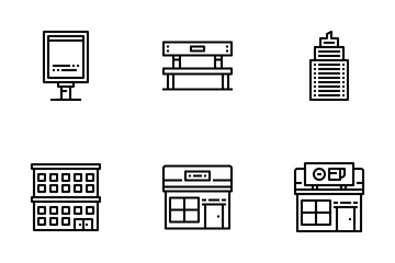 Building And City Element Icon Pack