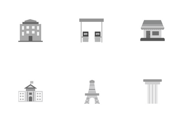 Building And Landmark Icon Pack