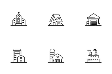 Building And Residence Icon Pack