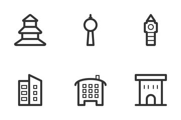 Building & Landmarks Icon Pack