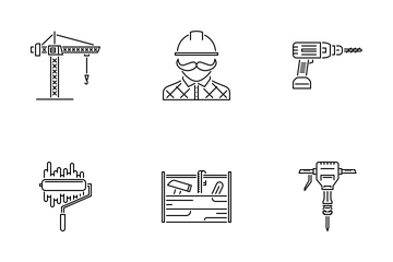 Building Outline Icon Pack