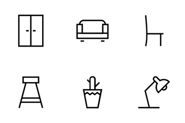 Buildings And Furniture Icons Icon Pack