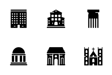 Buildings And Monuments Icon Pack