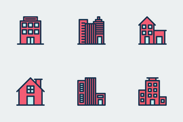 Buildings - Filled Line Icon Pack