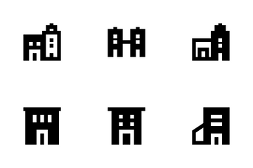Buildings Glyph Icon Pack