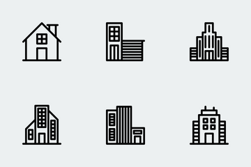 Buildings - Line Icon Pack