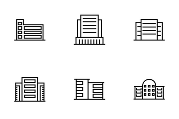 Buildings Line Icon Pack