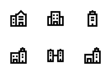 Buildings Outline Icon Pack