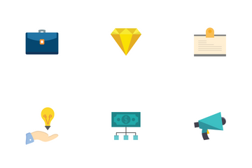Buisness Flat  Icon Pack