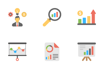 Business Analytics Flat Icons  Icon Pack