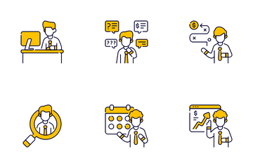 Business And Finance Character Icon Pack