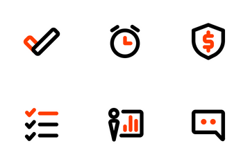 Business And Management Colored-outline Icon Pack