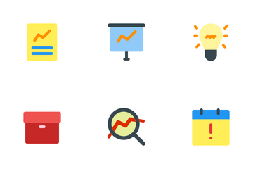 Business And Management (Flat) Vol.1 Icon Pack