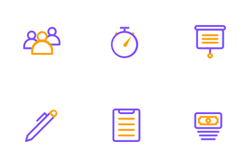 Business And Management (Line) Icon Pack