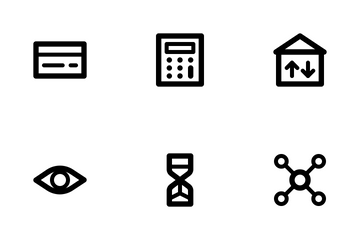 Business And Management (Outline 24) Icon Pack