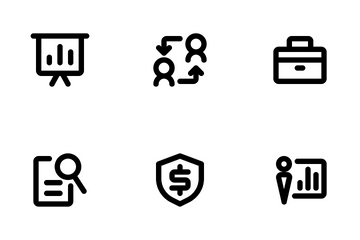 Business And Management Outline Icon Pack