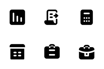 Business And Management (Solid) Icon Pack