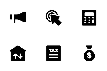 Business And Management (Solid) Vol.1 Icon Pack