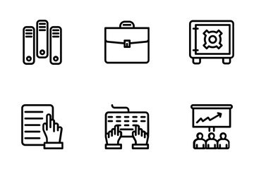 Business And Office 6 Icon Pack