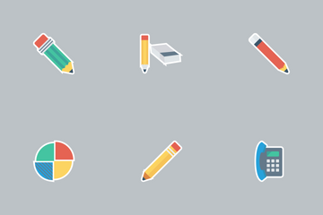 Business And Office Flat Icons Icon Pack