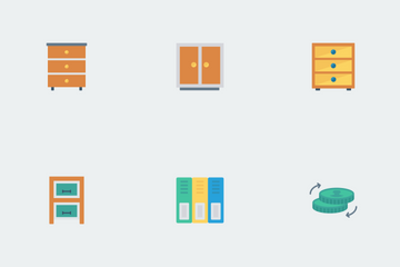 Business And Office Flat Paper Icon Pack